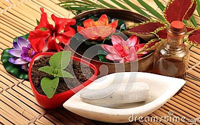 Dry mud spa
