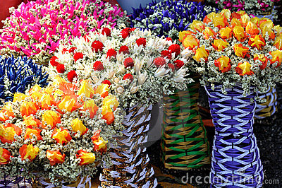 Dry and preserved flower decoration