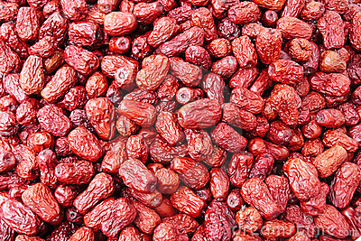 Dry red date