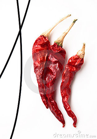 Free Dry Red Hot Chili Peppers Stock Images - 12243664