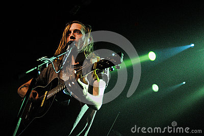 Dry the River band performs at Music Hall Editorial Stock Image