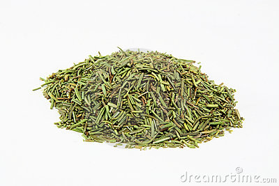Dry Rosemary leaves.