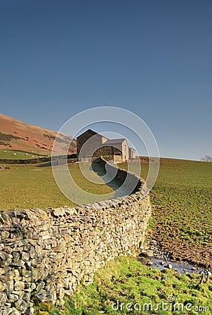 Free Dry Stone Wall And Barn Stock Photos - 4598993
