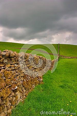 Dry stones wall