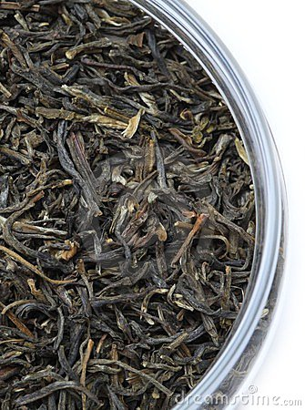 Dry tea leaves