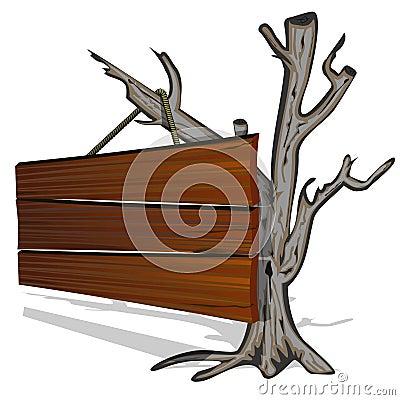 Dry tree and billboard