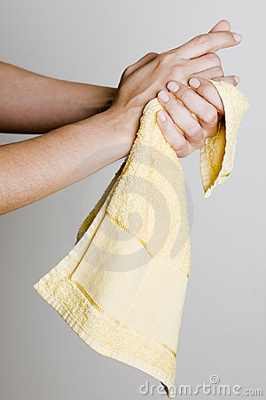 Drying Hands With A Towel Royalty Free Stock Images ...