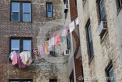 Drying linen