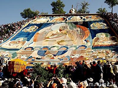 Drying in the sun Buddha portrait Editorial Photo