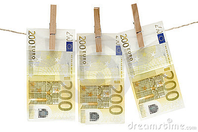 Drying Two Hundred Euro Bills