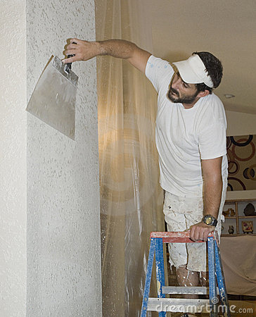 Drywall finishing a knocked down surface