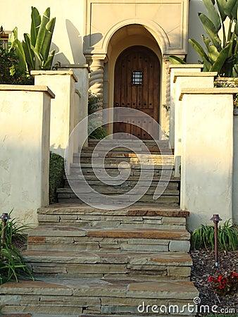 Drzwiowi wiodący łupkowi kroki