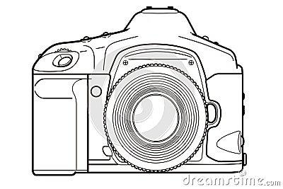 DSLR Camera Cartoon Illustration