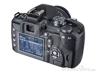DSLR Camera back with LCD screen