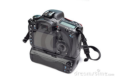 Dslr camera back view
