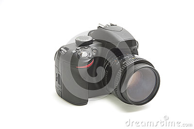 Dslr camera isolated on white
