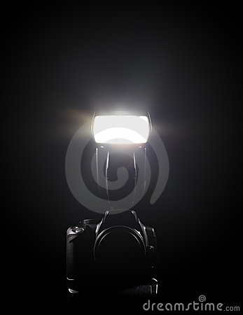 DSLR and flash