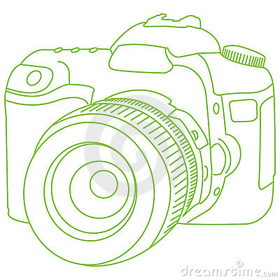 Dslr Outline Royalty Free Stock Photography Image 6170317