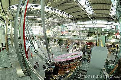 Düsseldorf airport - Departures hall Editorial Photo