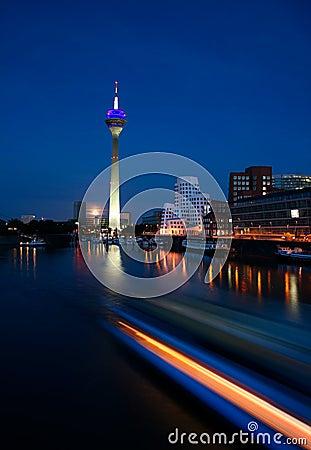Düsseldorf At Night