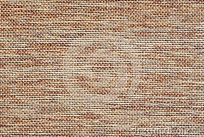Détail brun clair de surface de toile de jute