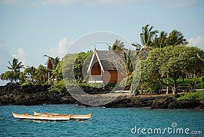 Duży chałup Hawaii wyspa