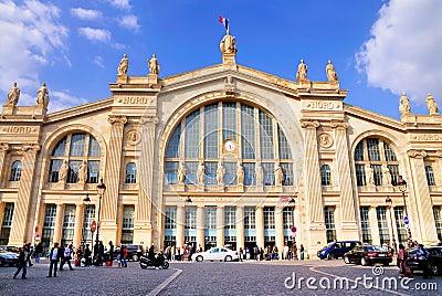 Du gare nord巴黎 图库摄影片