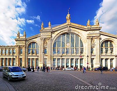 Du gare nord巴黎 编辑类库存图片