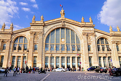 Du gare nord Παρίσι Εκδοτική Φωτογραφία