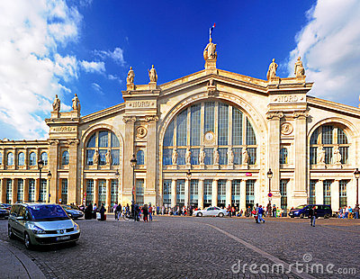 Du nord Gare Paris Obraz Stock Editorial