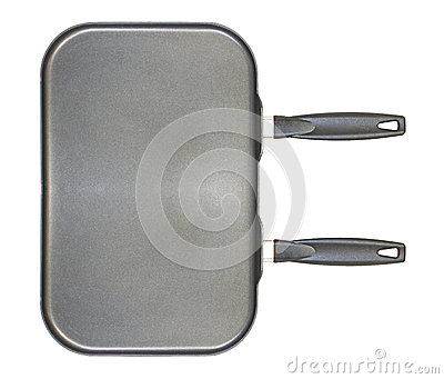 Dual burner frying pan