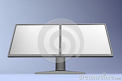 Dual LCD display