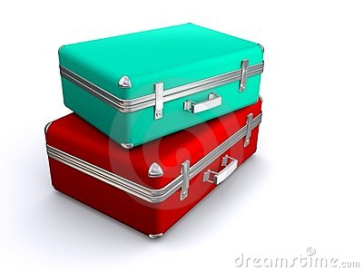 Duas malas de viagem