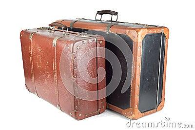 Duas malas de viagem velhas
