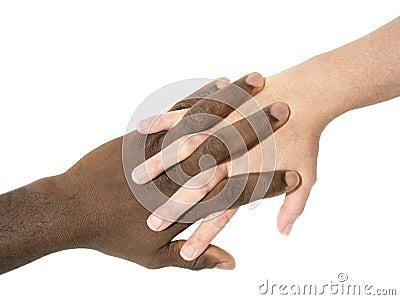 Duas mãos que simbolizam a diversidade do mundo