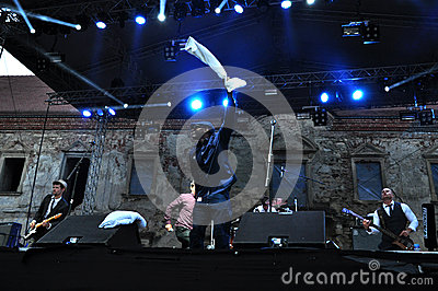 Dub Pistols performs live on the stage Editorial Stock Image