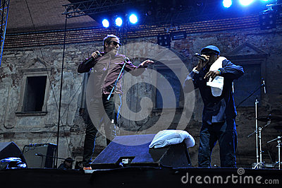 Dub Pistols performs live on the stage Editorial Photography