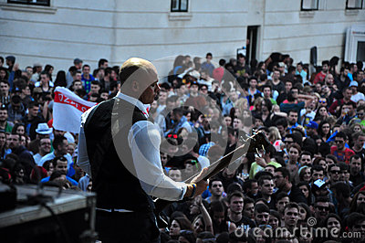 Dub Pistols performs live on the stage Editorial Photo