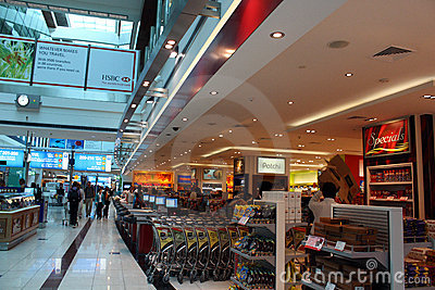 Dubai Airport Terminal 3 duty free Editorial Stock Image