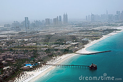 Dubai Beach Aerial View