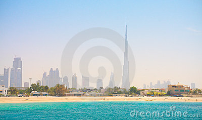 Dubai. Beautiful beach and sea