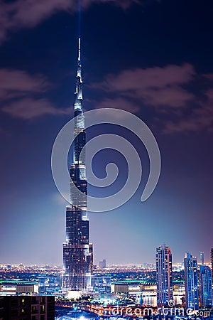 Free Dubai. Burj Khalifa. Night View Royalty Free Stock Photos - 23116708