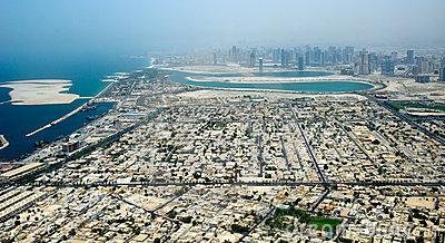 Dubai city from bird s eye view