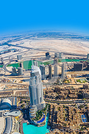 Free Dubai Downtown. East, United Arab Emirates Architecture. Aerial Royalty Free Stock Image - 39815416