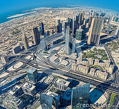 Free Dubai Downtown. East, United Arab Emirates Architecture. Aerial Royalty Free Stock Photo - 39815445