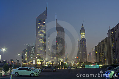 Dubai at evening