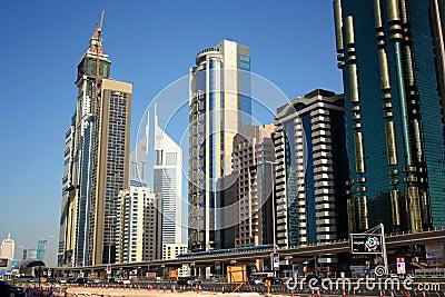 Dubai financial district Editorial Stock Image