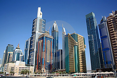 Dubai financial district Editorial Stock Image