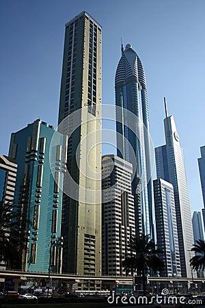 Dubai financial district Editorial Photo