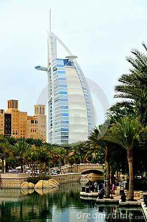 Dubai. Hotels Madinat and Burj al Arab